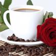 Un café, une fleur...